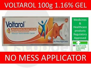 1x Voltarol Pain-Eze Emulgel 100G Back & Muscle Pain Relief 1.16% Gel APPLICATOR