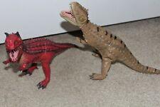 Lot Carnotaurus T-Rex Disney DINOLAND Animal Kingdom Soft Latex Rubber Dinosaurs