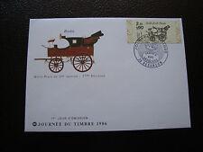 FRANCE - enveloppe 1er jour 5/4/1986 (journée du timbre) (cy34) french