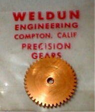 36 Tooth Gold Spur Gear 48 Pitch by Weldum 5:40 Alum Nos Slot Car 1/24 1/32