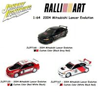 Johnny Lightning 1:64 RALLIART 2004 Mitsubishi Lancer Evolution - (3) Cars Set