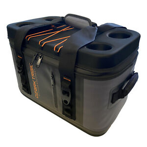 Ozark Trail 36-Can Premium Cooler with Heat-Welded Main Body, YKK Zipper, Gray