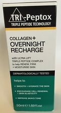 NIB Tri-Peptox Triple Peptide Collagen + Overnight Recharge 1.69 fl oz