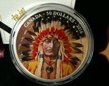 5 oz. Pure Silver Coloured Coin – Wanduta: Portrait of a Chief – Mintage: 1,200