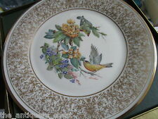 "Edward Marshall Boehm bird plate ""Goldfinch"" by Lenox, Nib[a*4rack]"