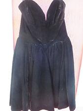 Yves Saint Laurent 1990s Cocktail Dress Velvet Strapless Plunging Heart Shape