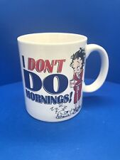 "Betty Boop ""I Don't Do Mornings!"" Coffee Mug By NJ Croce 2003"