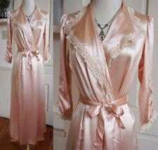 Amazing Vintage 30's Pink Shimmer Satin Dressing Gown Robe Wedding Gift