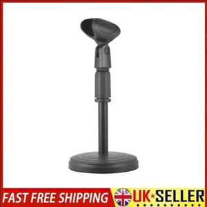 Adjustable Small Desk/Table Top Microphone Stand Mic Tripod Clip Holder UK Hot