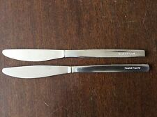 NHS HOSPITAL CUTLERY STAINLESS STEEL KNIVES X 2