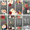 DYEFOR PERSONALISED FLORAL TRANSPARENT & NAME PHONE CASE COVER FOR SONY XPERIA