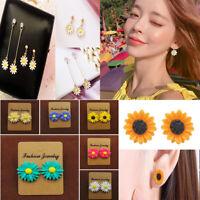 Elegant Women Sunflower Charm Daisy Flower Earrings Party Jewelry Ear Stud Gifts