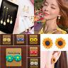 Charm Women Daisy Flower Sunflower Colorful Cute Earrings Ear Stud Resin Jewelry