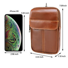 Extra Large Real Leather Pouch Case Belt Clip Holster For iPhone 11 Pro Max XS/R