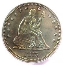 1875-CC Seated Liberty Quarter 25C - ICG MS60 Details (UNC) - Rare Carson City!