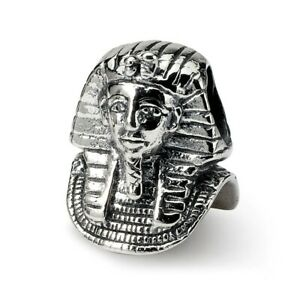 Pharaoh Bead .925 Sterling Silver Antique Finish Reflection Beads