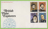 G.B. 1972 Polar Explorers set on Post Office First Day Cover, Southampton