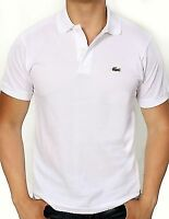 Lacoste Men's Short Sleeve Classic Cotton Pique Polo Shirt L1212-51 001 White