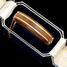 Antique Vintage Victorian 14k Gold Carved Gutta Percha Bog Oak Wedding Bracelet