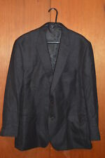 CHAPS Quality MEN'S BLAZER JACKET  Black - Gray   SIZE 48  Tweed - like  clothes