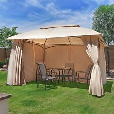 outdoor home 10' x 13' backyard garden awnings Patio Gazebo canopy tent netting