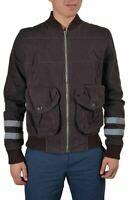 Galliano Brown Full Zip Men's Basic Jacket US S IT 48