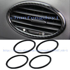For Ford Focus 2009-2014 Carbon fiber Dashboard Air Vent Outlet Cover Trim 4pcs