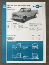 c1976 Chevrolet Série C-10 Pick-up 4X4 original Brazilian sales brochure