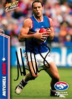✺Signed✺ 2007 WESTERN BULLDOGS AFL Card MITCHELL HAHN