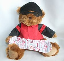 "Liz Claiborne Plush stuffed Animal Bear Snowboard Snow Board 15"" Hat Jacket"
