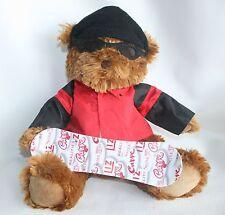 "Liz Claiborne Plush stuffed Animal Bear Snowboard Snow Board 15"" Hat Jacket"