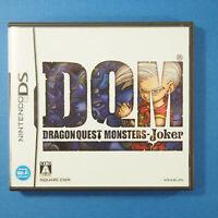 Dragon Quest Monsters DQM: Joker (Nintendo DS, 2010) Japan Import