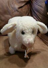 Sheep/Lamb Stuffed Animal Eden plush vintage Ivory neck copper farm bell/ribbon