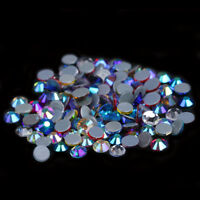 flatback white crystal ab Iron on Hotfix rhinestones stones crystals for clothes