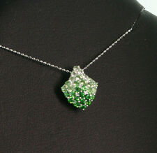 PERIDOT TSAVORITH Pendant Chain GOOD MOOD MAKERS 750 WHITE GOLD SW1589 E