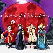 Jim Shore Disney Villains Holiday Ornament Set Maleficent Captain Hook Cruella