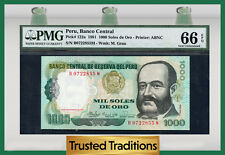 TT PK 122a 1981 PERU 1,000 SOLES DE ORO PMG 66 EPQ POP ONE FINEST KNOWN!