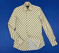 John ashfield camicia uomo usato M 40 a righe shirt vintage slim retro T5950