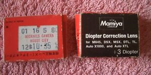 Two Mamiya Diopter Correction lens (+2, +3) - Sell for Charity