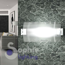 Applique 25 cm muro design moderno acciaio cromo vetro orientabile bagno salone