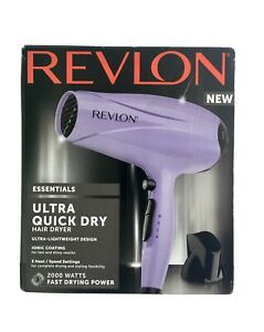 Revlon Essentials Ultra Quick Drying Hair Dryer 2000W Boxed With Instructions