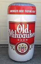 "Old Milwaukee/OM Light Beer 17""x33"" Large Inflatables Beer Cans Game Room Bar"