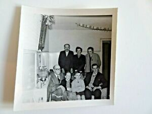 Vintage Black And White Photograph All Of The Family At Christmas