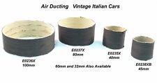 Vintage Ferrari Maserati air / heater hose. Correct black paper covered. 80mm.