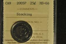 Canada 2005P Quarter 25 Cent - Stocking - ICCS - MS66 -