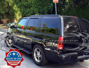 1999-2000 Cadillac Escalade 4Pc Chrome Window Sill Trim Stainless Steel Overlay