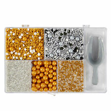 Wilton Assorted Treat Metallic Sprinkle Tackle Box 7.58 Ounces   Candy   Cookie