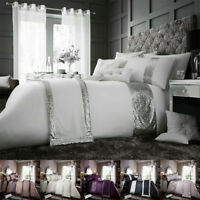 Luxury Duvet Cover Sets With Pillow Cases King Size Double Single Super Bedding