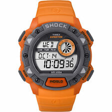"Timex TW4B07600, Men's ""Expedition"" Orange Resin Watch, Shock Resistant,Indiglo,"