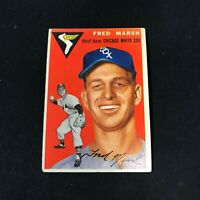 1954 Topps #218 FRED MARSH Chicago White Sox VG ~FB05A